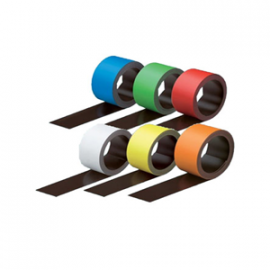 Colored Dry Erase Magnetic Strip Rolls (25 Feet Long x 6 Colors)